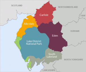 Cumbria Tourism Map