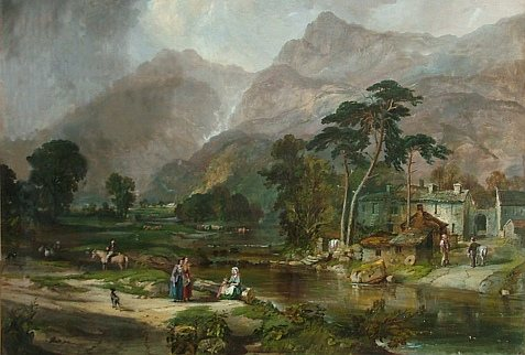Tullie House Museum and Art Gallery - Borrowdale 1846 by Sam Bough