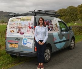 Sam Tollerson with the new Mycumbria van